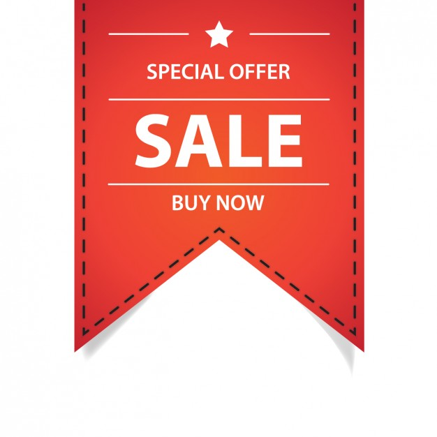 626x626 Special Offer Red Ribbon Vector Free Download