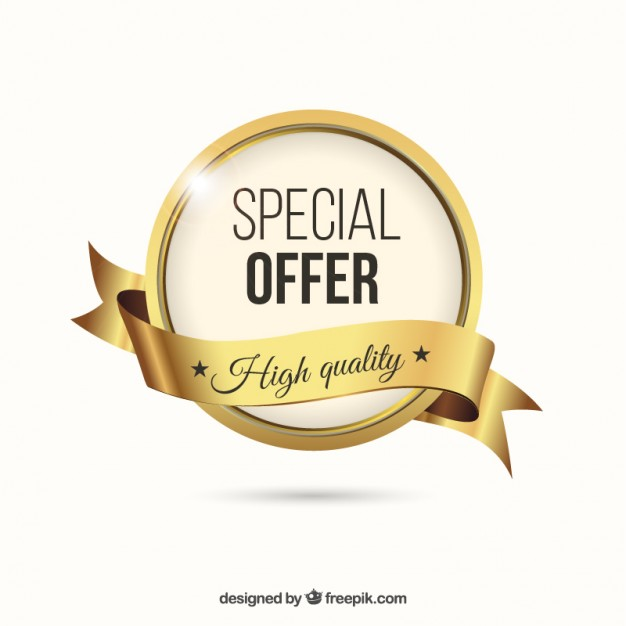 626x626 Golden Special Offer Label Vector Free Download
