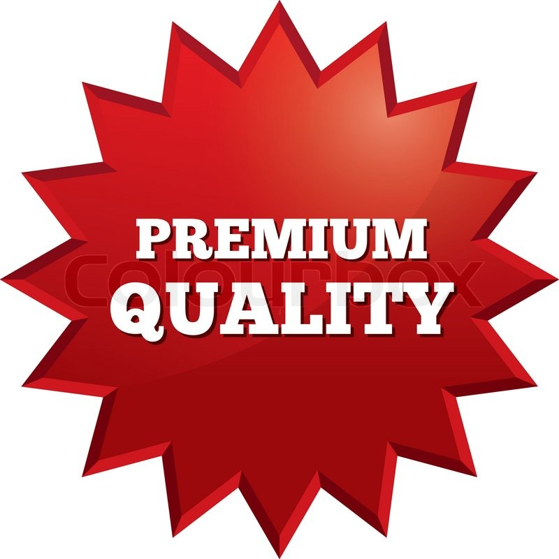 800x800 Premium Quality Star. Special Offer Vector Tag. Red Sticker. Icon