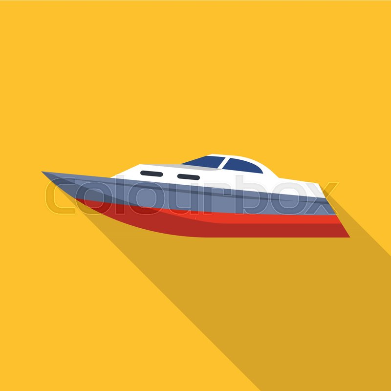800x800 Speed Boat Icon. Flat Illustration Of Speed Boat Vector Icon For