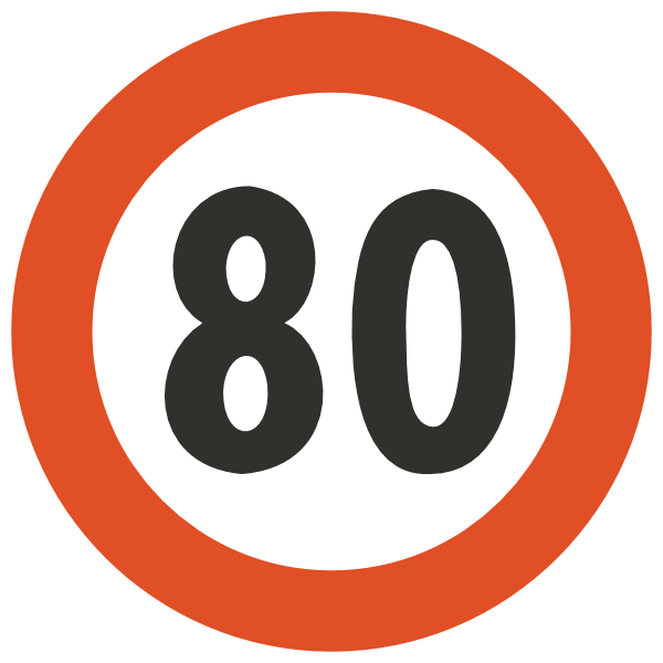 600x600 Speed Limit Sign Clipart
