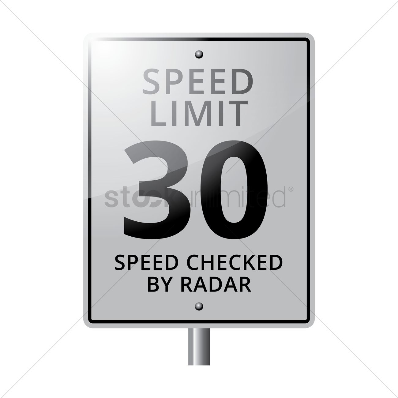 1300x1300 30 Speed Limit Road Sign Vector Image
