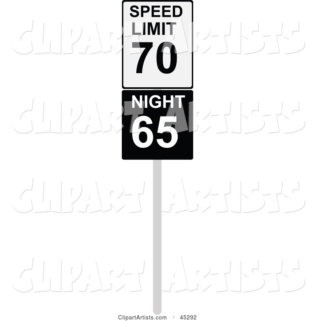 1024x1044 Speed Limit Sign With Night And Day Speeds Clipart By Jr (Vectorized)