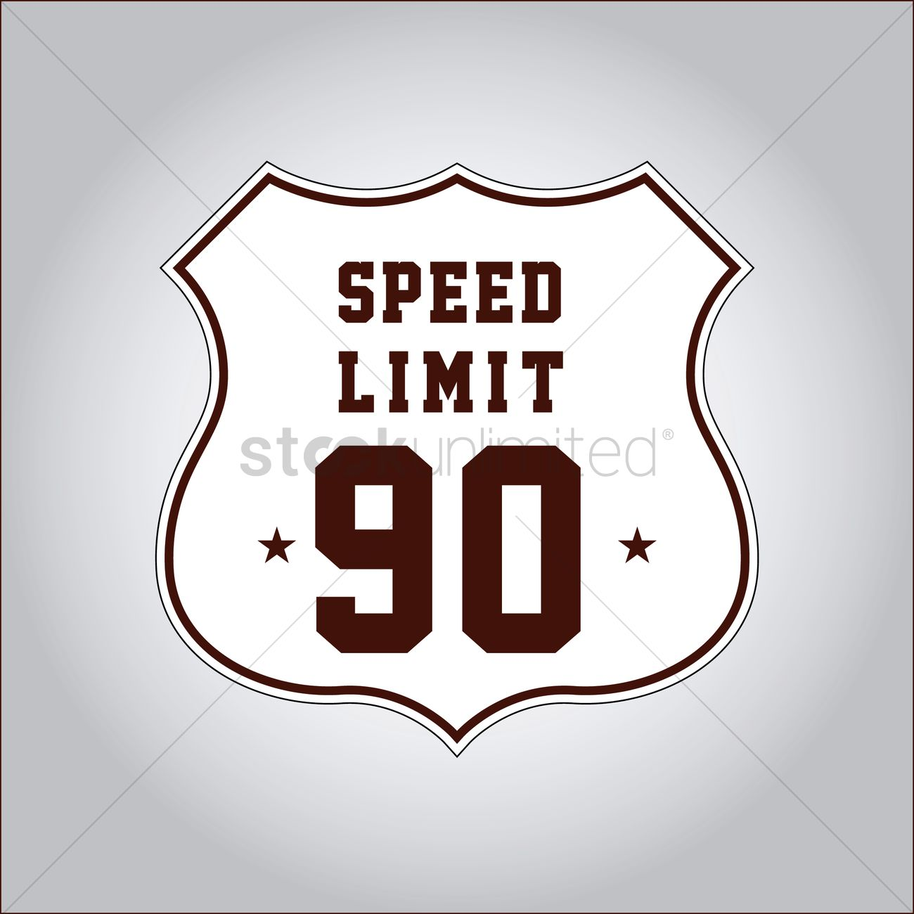 1300x1300 Speed Limit 90 Sign Vector Image