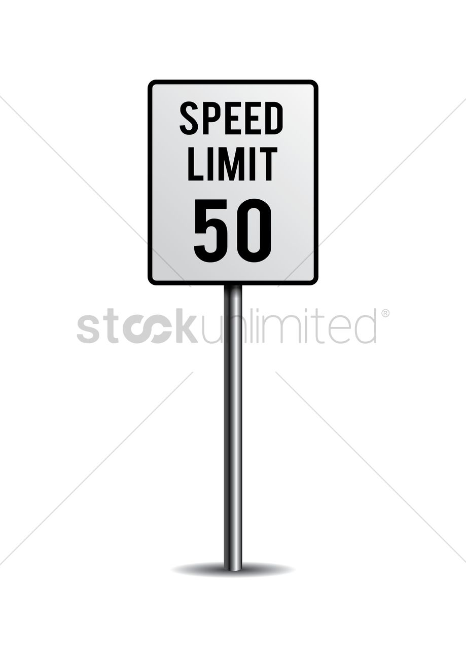 919x1300 Speed Limit Sign Vector Image