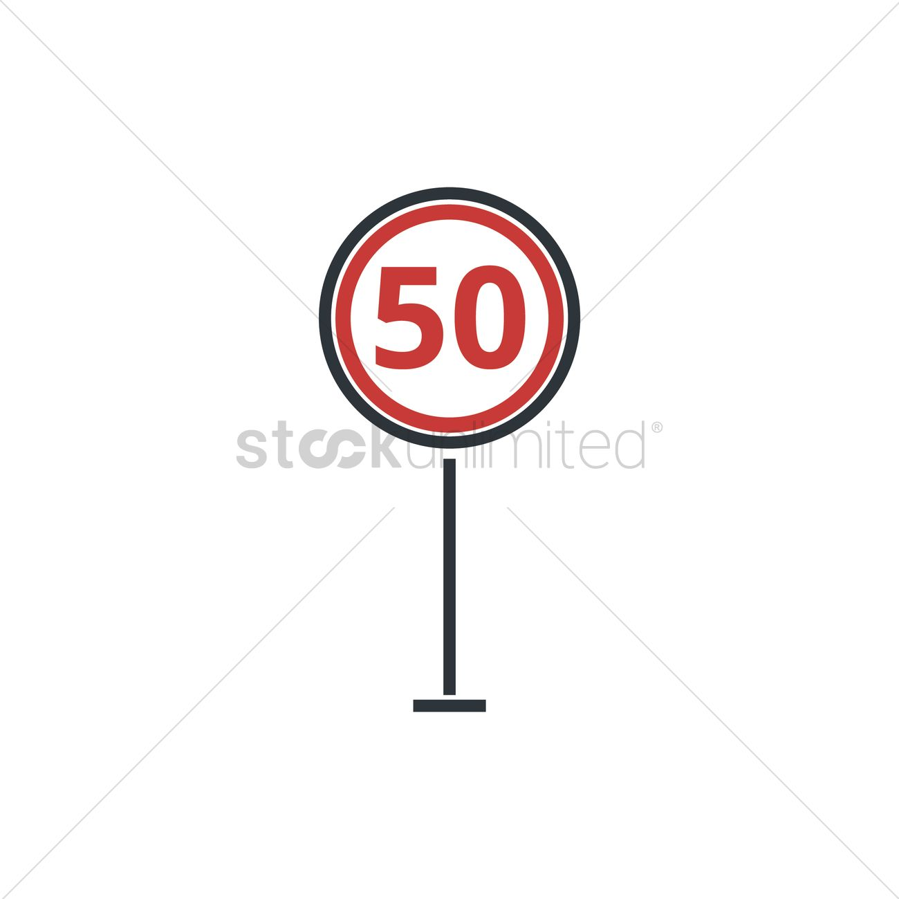 1300x1300 Speed Limit Sign Vector Image