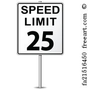 176x179 Free Art Print Of Speed Limit 55 Sign. A White American Road Sign