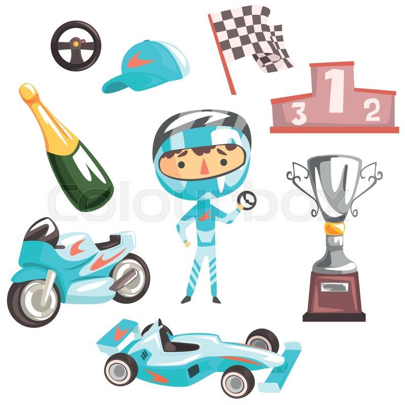 800x800 Boy Speed Racer, Kids Future Dream Professional Occupation