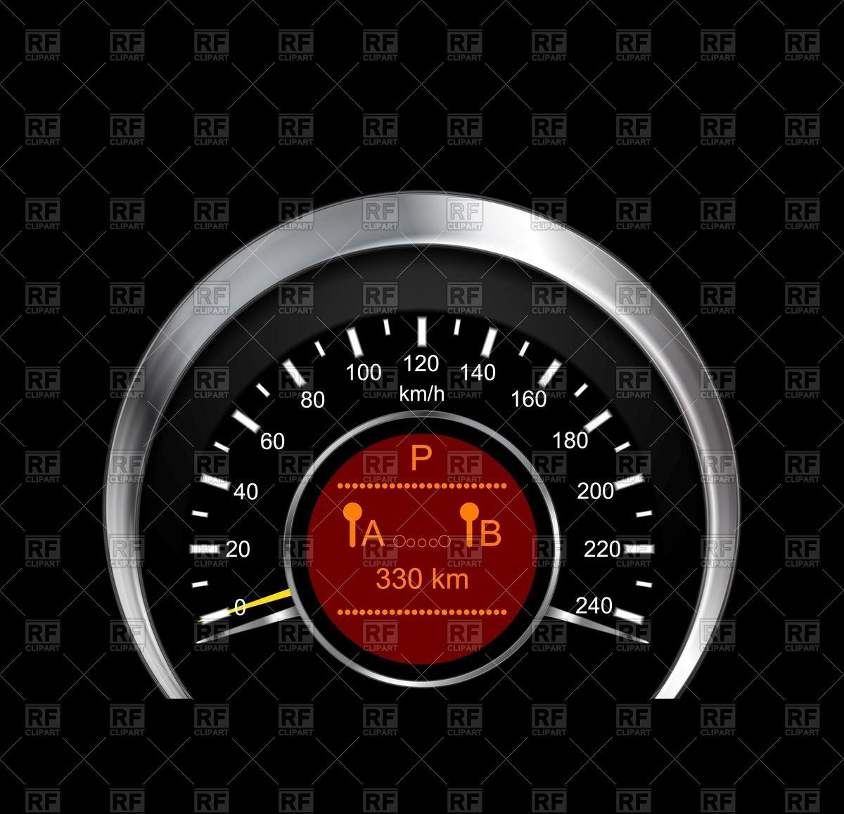 1200x1158 Metal Speedometer Vector Image Vector Artwork Of Objects