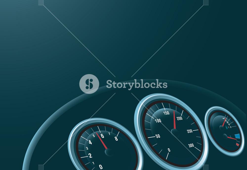 1000x689 Speedometer. Vector Royalty Free Stock Image