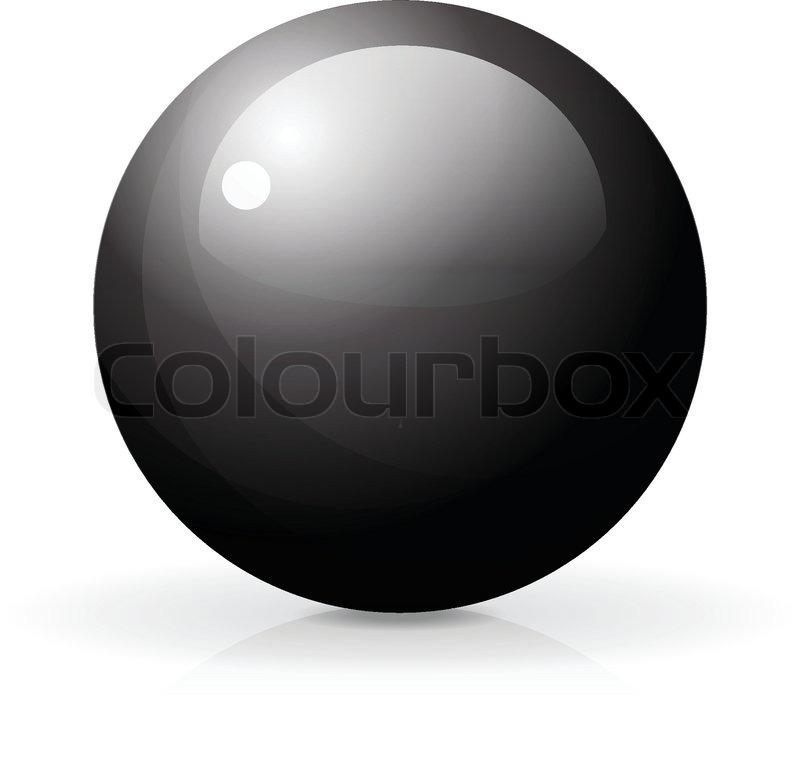 800x757 3d Glossy Sphere, Vector Illustration Stock Vector Colourbox