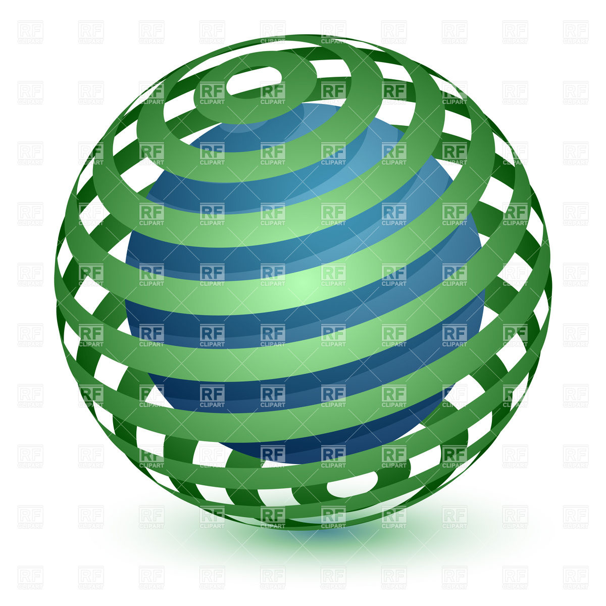 1200x1200 Abstract Globe Icon Ribbon Around A Sphere Vector Image Vector