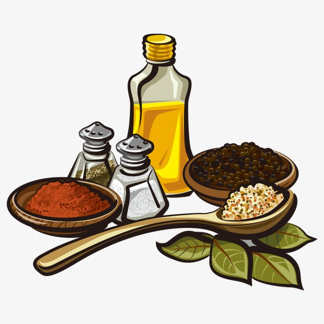 650x650 Vector Sesame Oil And Spices, Vector Sesame Oil, Vector Seasoning