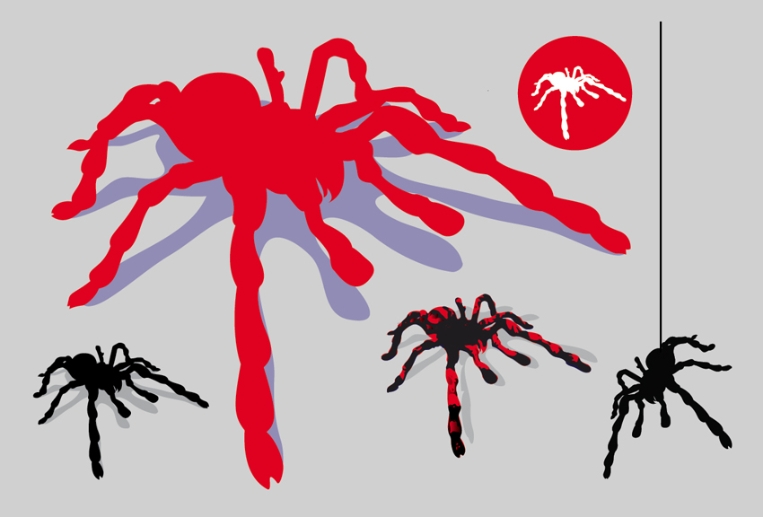 850x576 Scary Spider Vector Graphics