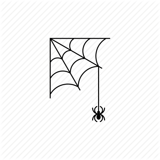 Spider Web Corner Vector