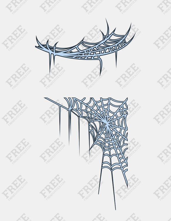 585x755 Free Graphics] Spider Webs For Corners