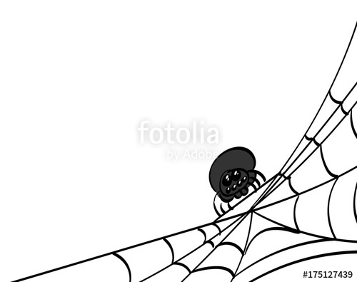 500x395 Spider Web, Bottom Right Corner. Stock Image And Royalty Free