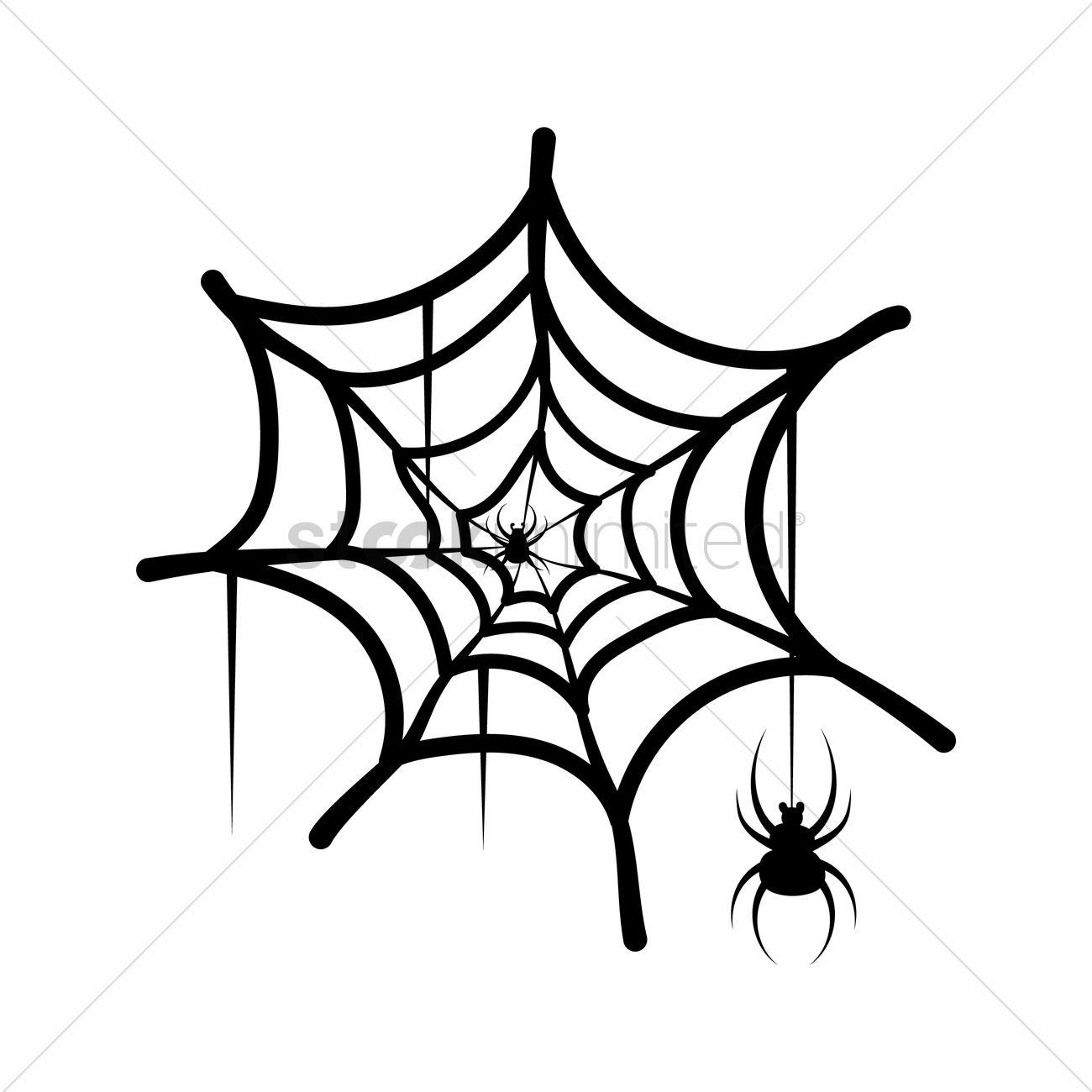 1300x1300 Spider Web Vector Image