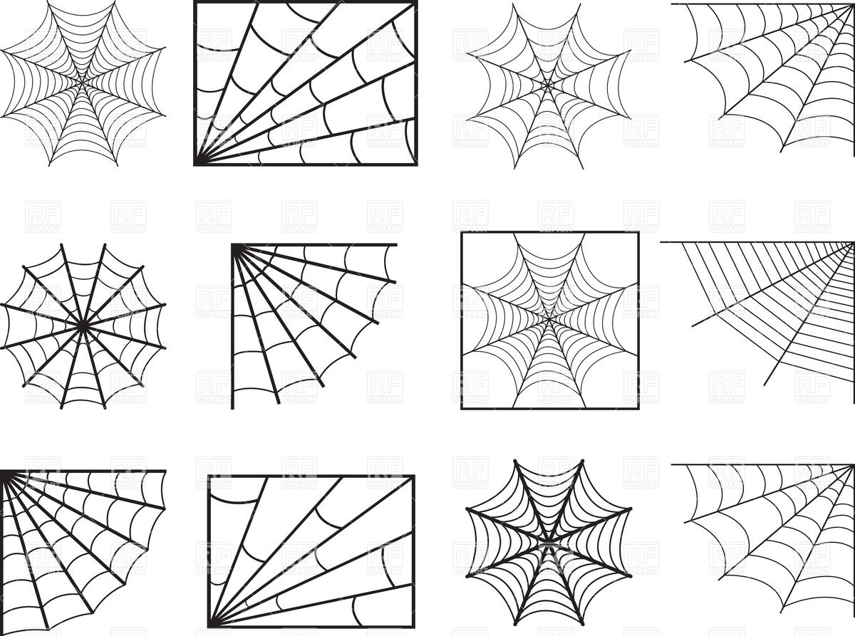 1200x893 Spider Web Vector Image Vector Artwork Of Design Elements