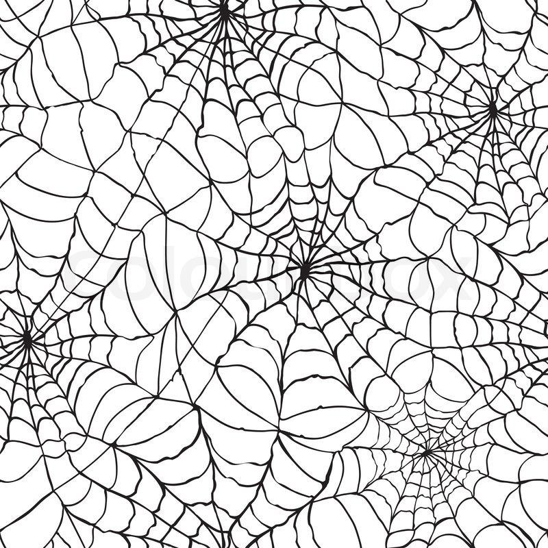 800x800 Spider Web Seamless Halloween Background Texture Cobweb Gossamer