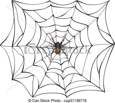 450x403 Spiderweb. Big Spider Web. Scary Spider Of Web. Poison Spider