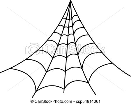 450x359 Strong Spiderweb Icon, Outline Style. Strong Spiderweb Icon