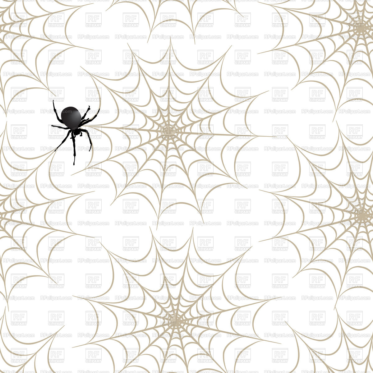 1200x1200 Halloween Seamless Pattern With Spider Web Vector Image Vector