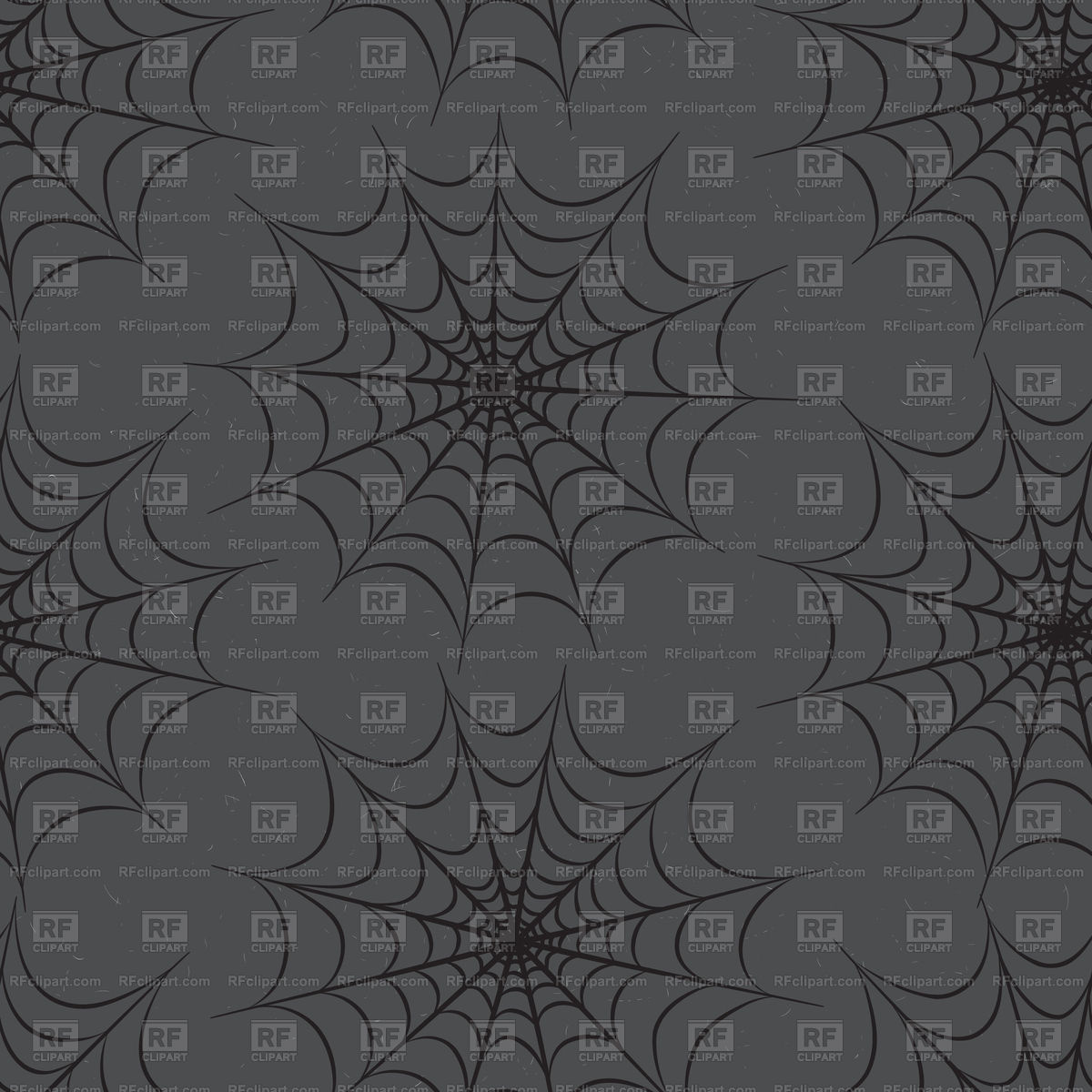 1200x1200 Seamless Background With Spider Web Vector Image Vector Artwork