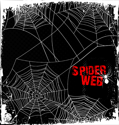 500x526 Set Of Spider Web Vector Background 05 Free Download