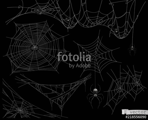 500x408 Spider Web, Vector Set Of Elements Stock Image And Royalty Free
