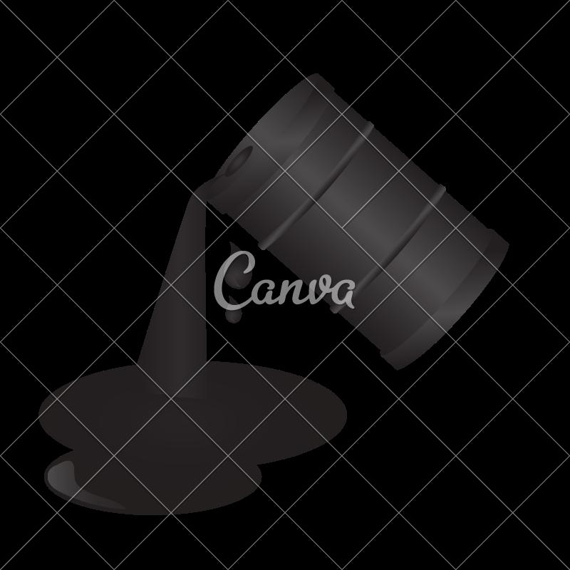800x800 Oil Barrel Spill Vector