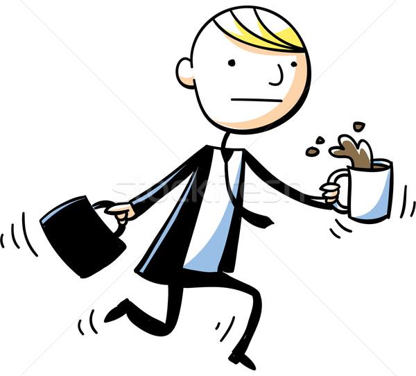600x542 Businessman Coffee Spill Vector Illustration Brett Lamb (Blamb