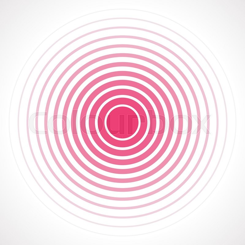 800x800 Concentric Circle Elements. Vector Illustration For Sound Wave