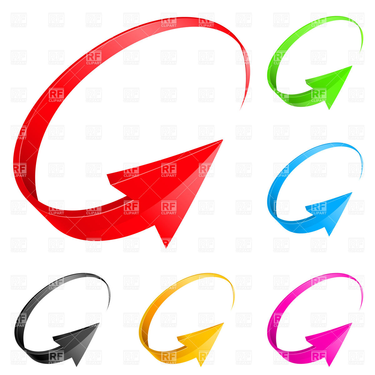 1200x1200 Set Of 3d Spinning Arrows Vector Image Vector Artwork Of Signs