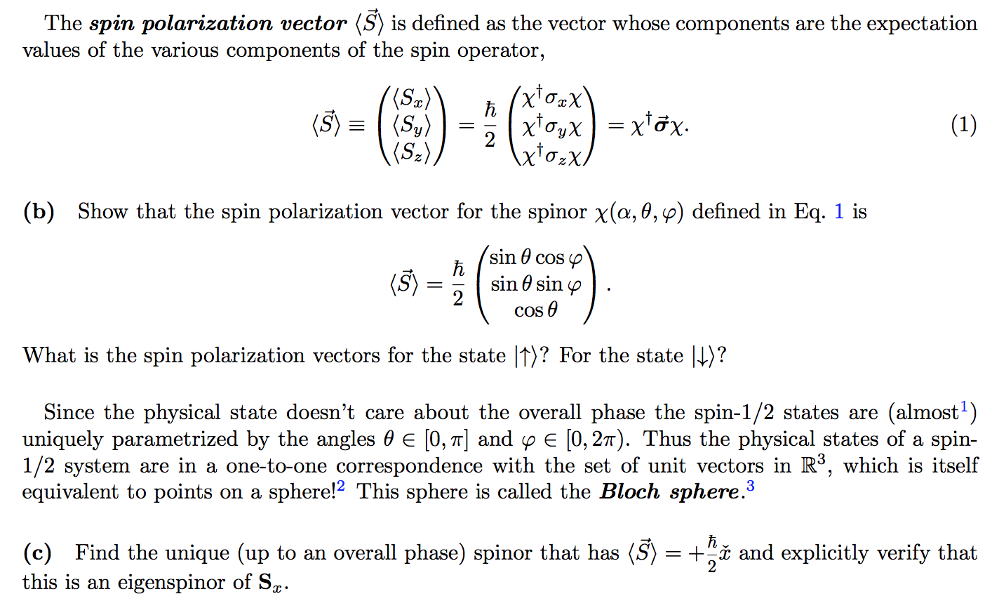 1404x856 The Spin Polarization Vector (S) Is Defined As The