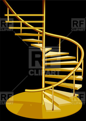 284x400 Interior With Spiral Staircase Vector Image Vector Artwork Of