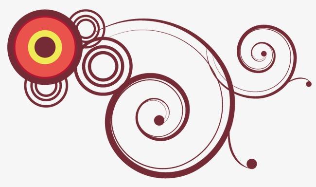 650x384 Circle Spiral Line Decorative Pattern, Circle Vector, Spiral
