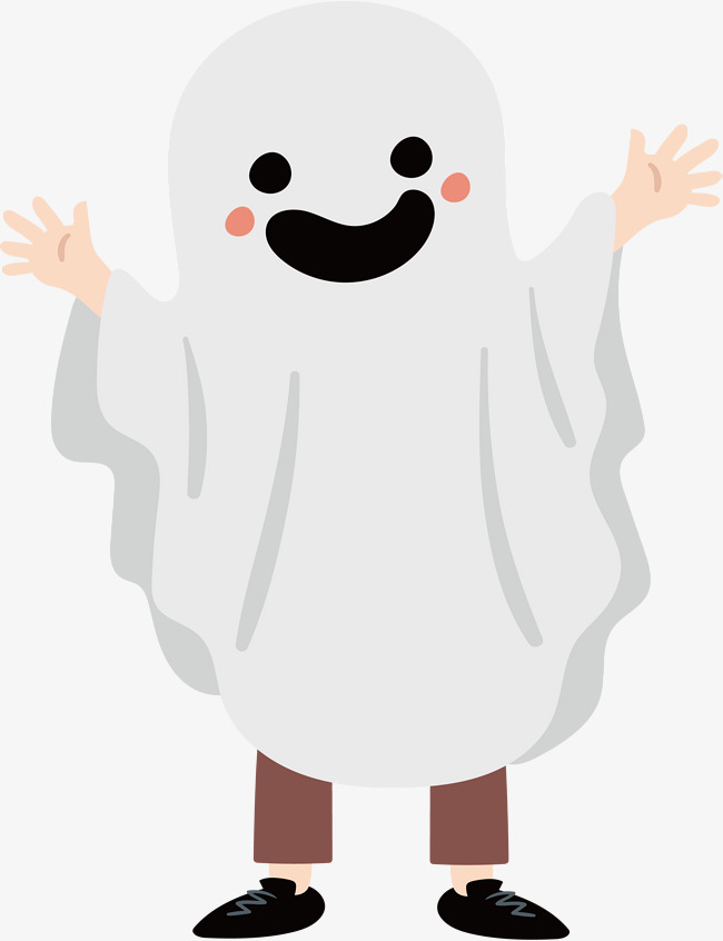 650x846 A Cheerful Spirit, Vector Png, Ghost, Happy Ghost Png And Vector