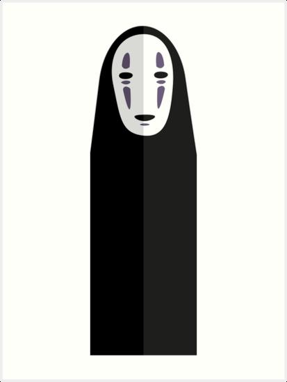 413x549 No Face Spirited Away Vector Art Prints By Little Cub Designs