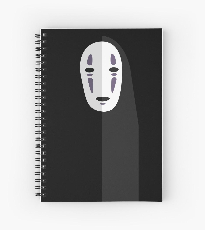 1171x1313 No Face Spirited Away Vector Spiral Notebooks By Little Cub