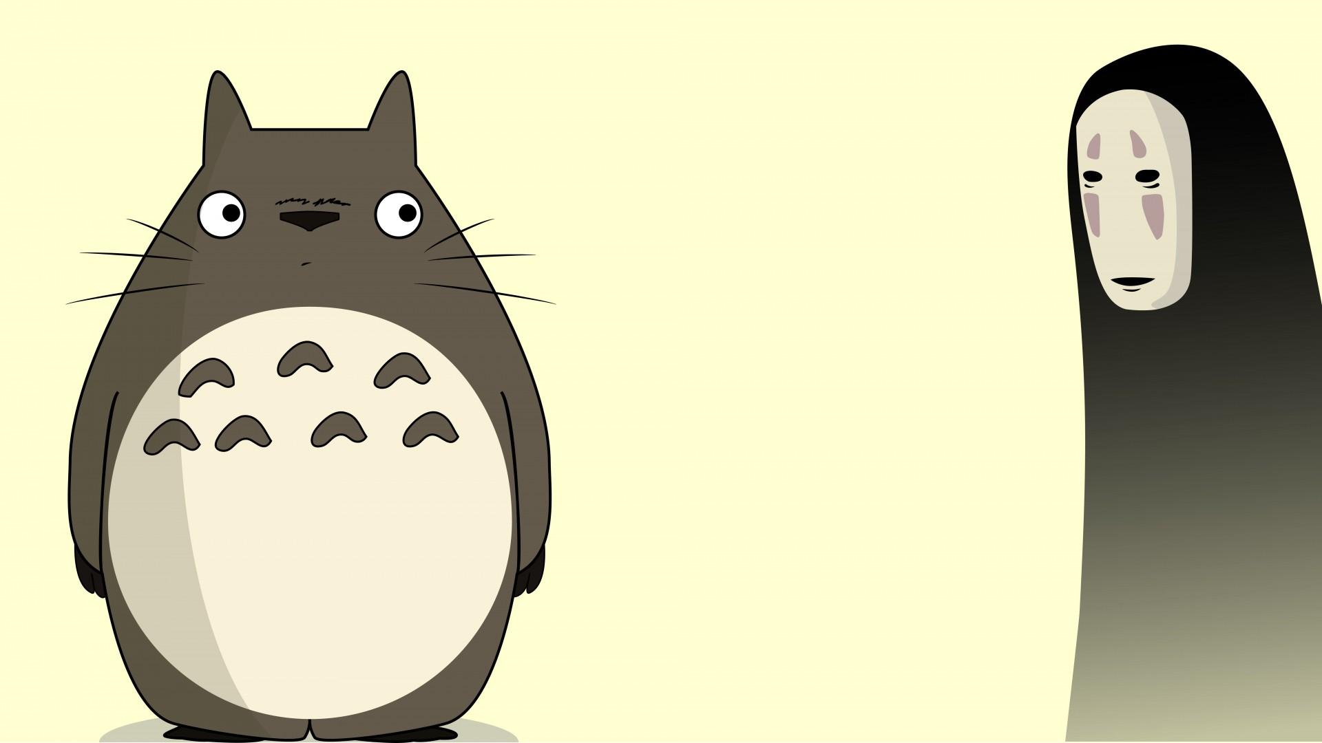 1920x1080 Spirited Away Vector Totoro No Face My
