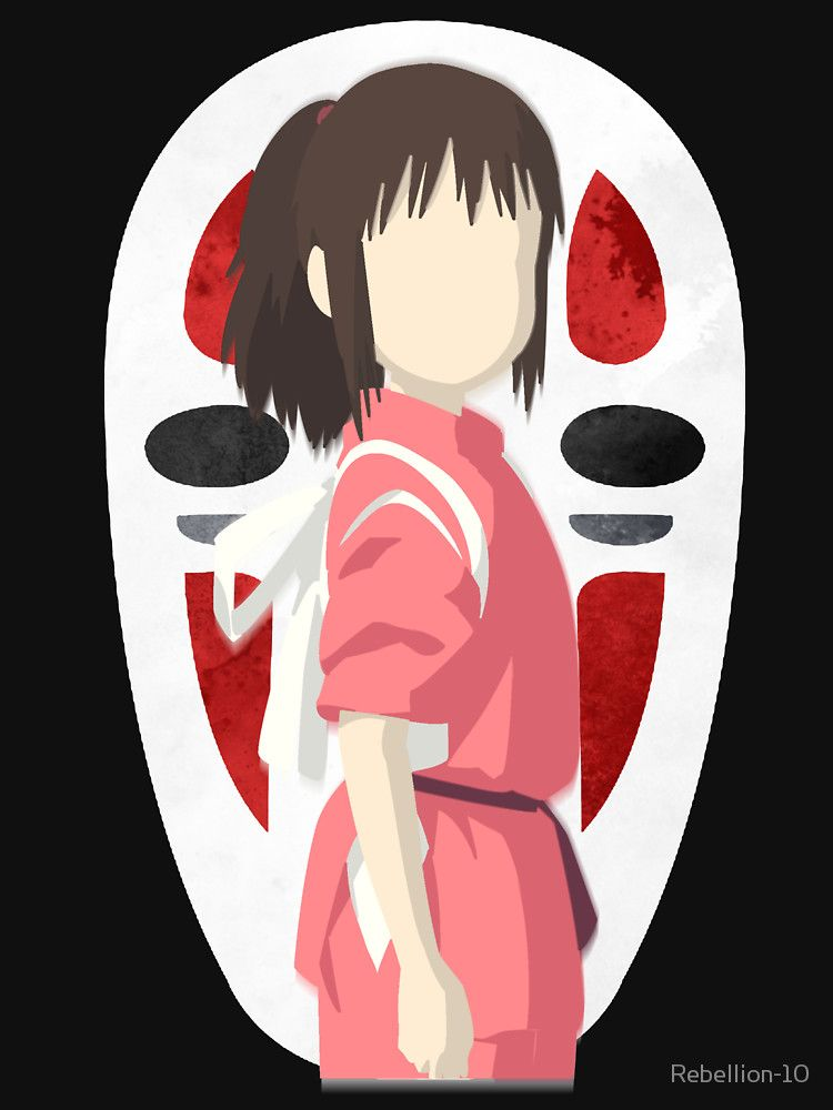 750x1000 A Vector Design Of Chihiro Ogino And No Face (Kaonashi) From The