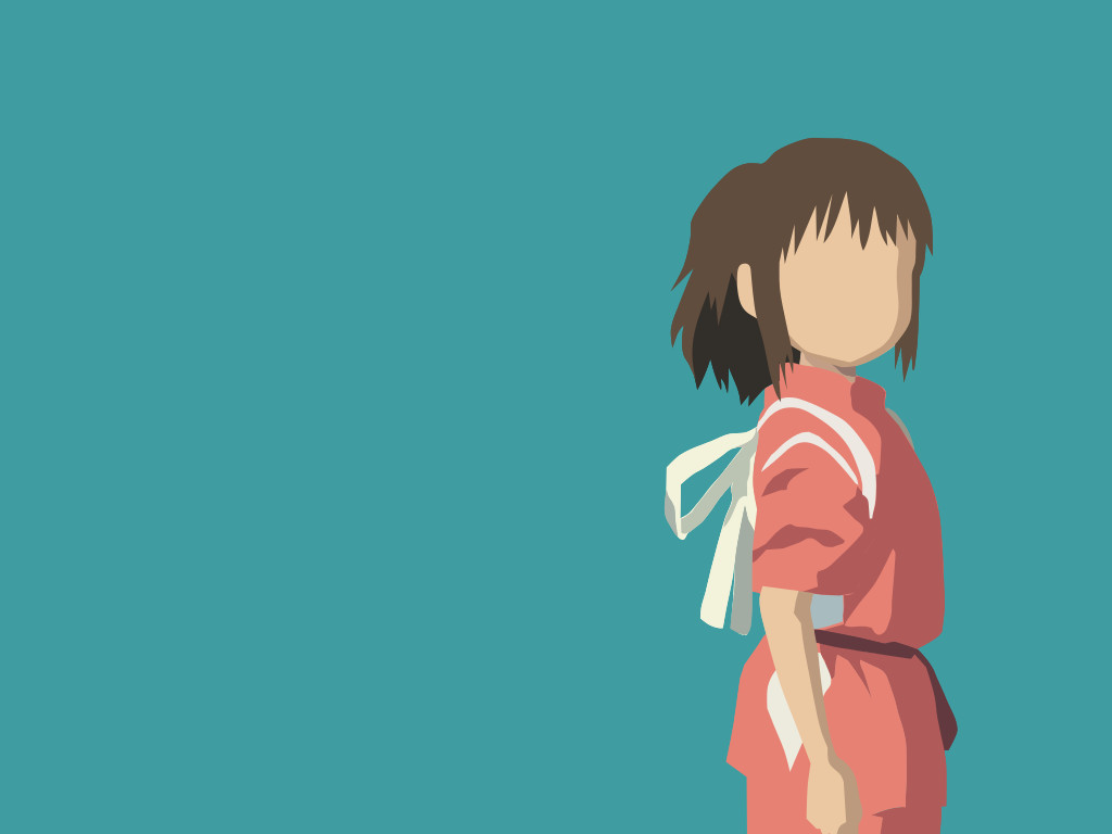 1024x768 Chihiro Minimalist (Spirited Away) By Nightindarkness29