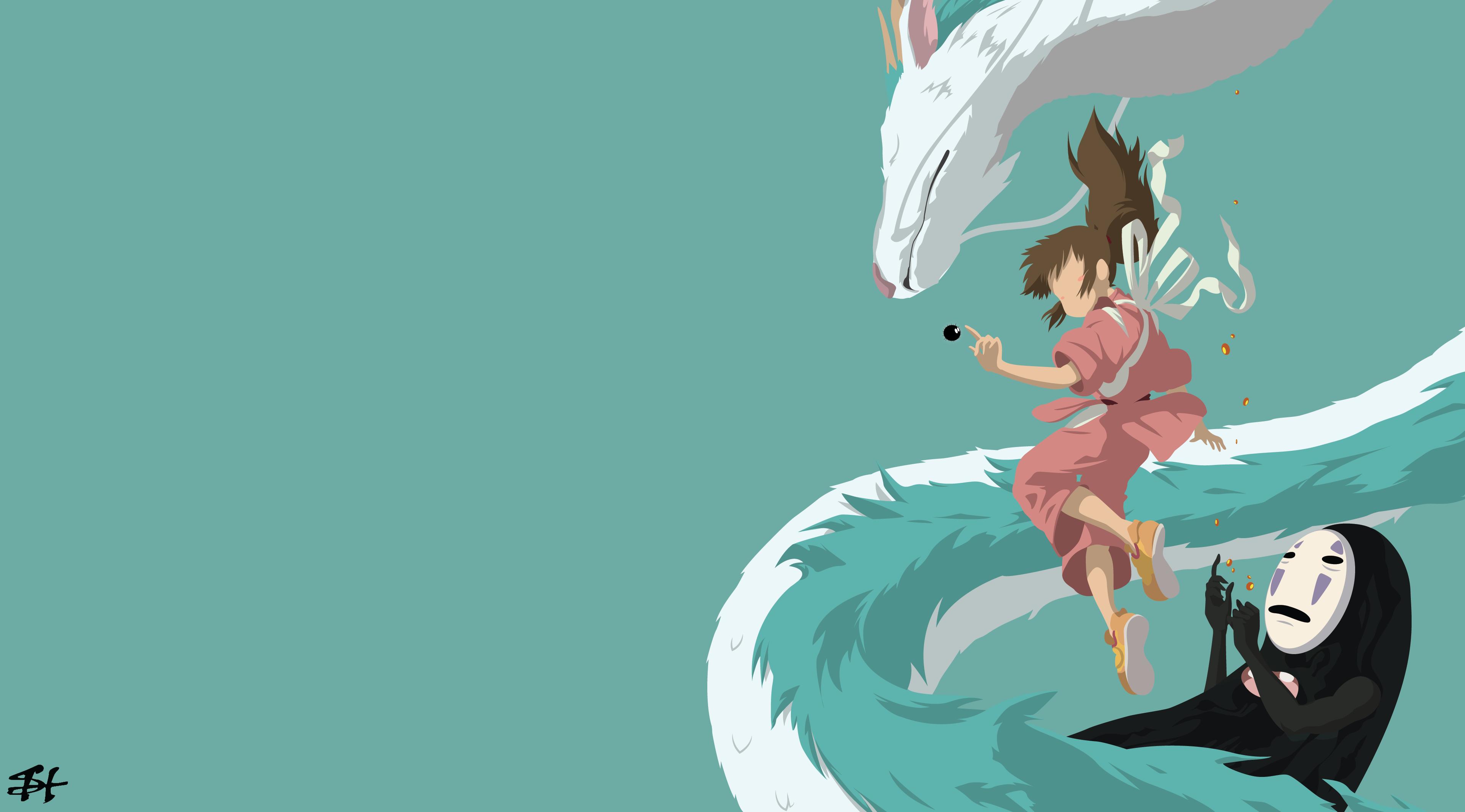 3840x2129 Wallpaper Illustration, Anime, Minimalism, Spirited Away