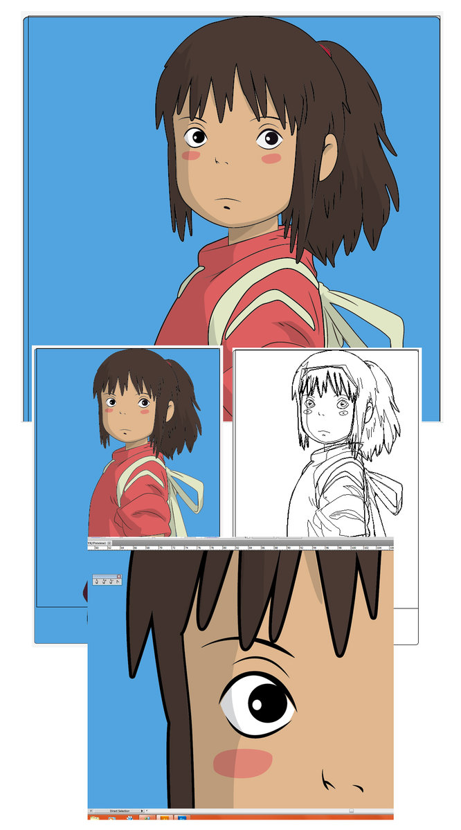 666x1199 Chihiro Vector From Spirited Away By Thepow