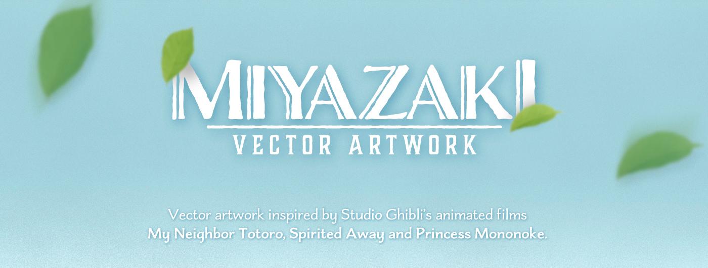 1400x531 Miyazaki Vector Artwork On Behance