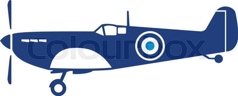 800x323 Illustration Of A World War Two Fighter Airplane Spitfire Viewed