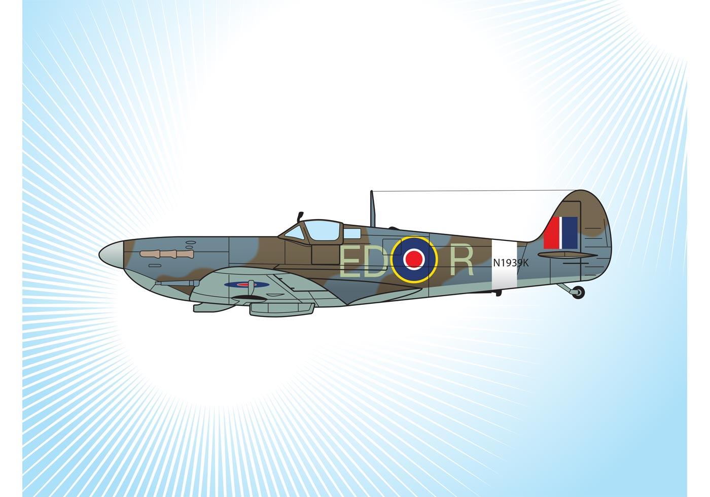 1400x980 Spitfire Free Vector Art