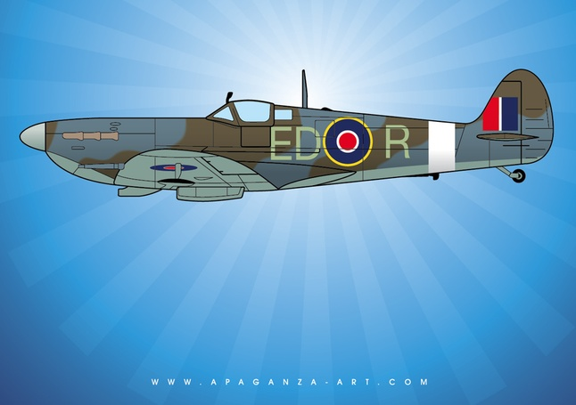 646x455 Spitfire Vector Vector Free Download
