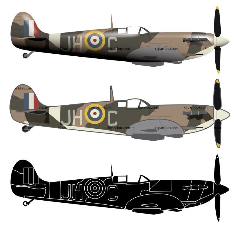 800x800 Aircraft Clipart Spitfire 3019218
